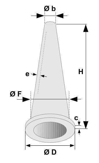 Cone métal fritte