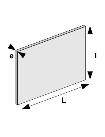 Plaque métal fritte